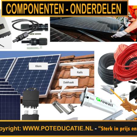 PV - Zonnepanelen onderdelen